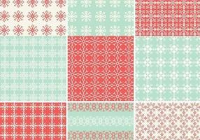 Pixelated Schneeflocke-Vektormuster-Satz