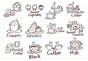 Coffee-doodle-vector-pack