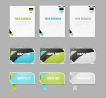 Moderne Lint Banner Vectoren