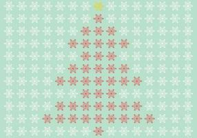 Snowflake-christmas-tree-vector