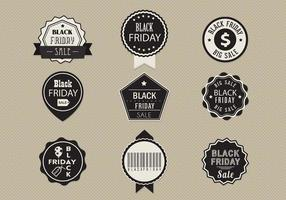Black Friday Verkoop Label Vector Pack