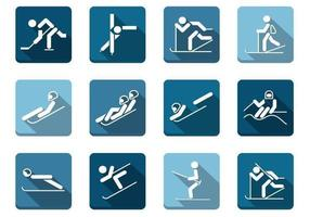 Long-shadow-winter-sport-icons-vector-pack