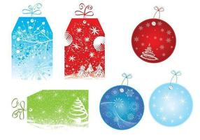Luminoso Natale Tag Vector Pack