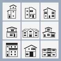 Outlined-house-vector-pack
