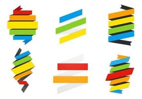 Rainbow-ribbon-banner-vector-pack