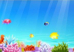 banner de vector de vida marina