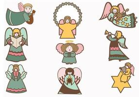 Holiday-angel-vector-pack