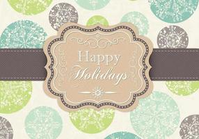 Grungy Snowflake Happy Holidays Vector Background