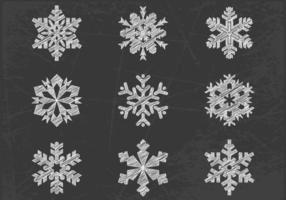 Chalk-drawn-snowflake-vector-pack