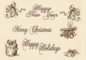 Grungy Holiday Banner Vector Pack