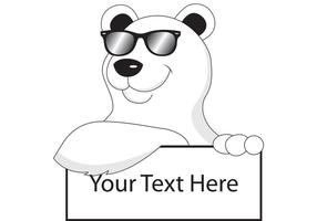 Too Cool Polar Bear Vector
