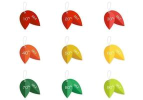 Leaf Sale Vector Tags