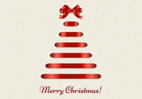 Decorative Ribbon Merry Christmas Vector Background