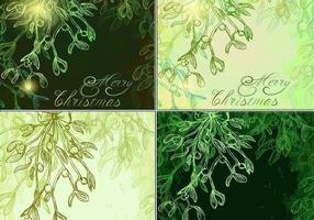 Glowing Mistletoe Vector Backgrounds Pack