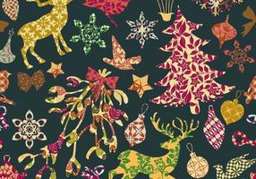Seamless-patchwork-christmas-pattern-vector