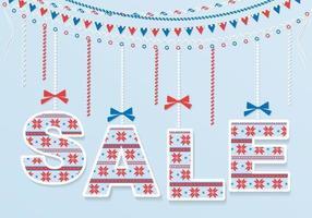 Fundo de vetor alegre venda de inverno