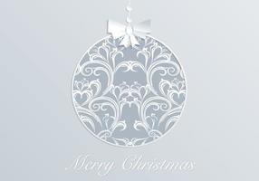 Damask Christmas Ornament Vector