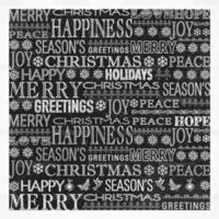 Chalk Drawn Christmas Greeting Vector Background