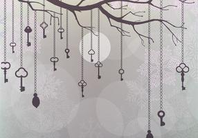 Snowy Hanging Keys Vector Wallpaper Pack