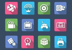 Multimedia e giochi Icon Vector Pack