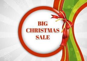 Big Christmas Sale Vector Background