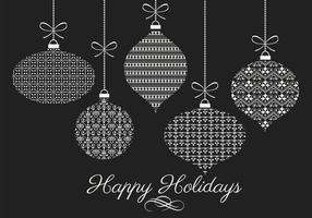 Decorativos de Navidad Pack Vector Adorno