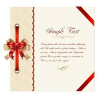 Lace Christmas Card Vector Template