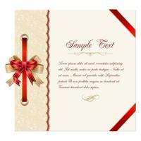 Tarjeta de Navidad de encaje Vector plantilla