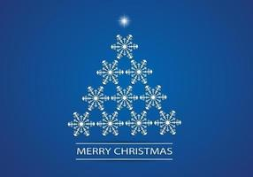 Snowflake-christmas-tree-vector-background