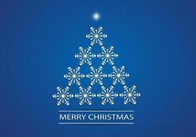 Fondo del vector del árbol de navidad del copo de nieve