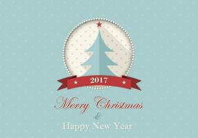 Vrolijke Kerstmis en Gelukkig Nieuwjaar Vector Achtergrond