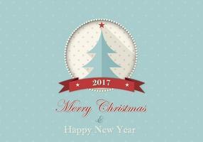 Feliz Natal e Feliz Ano Novo Fundo do vetor