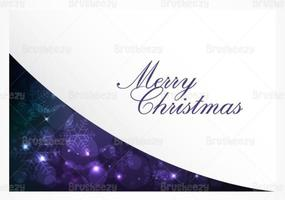Purple Bokeh Christmas Vector Background