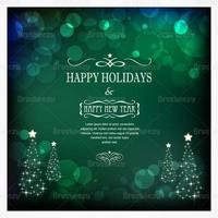 Emerald Bokeh Christmas Vector Background