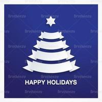 Fondo de vectores del árbol de Navidad de la cinta