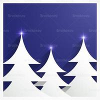 Abstract Christmas Tree Vector Background