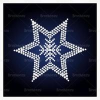 Diamond Studded Star Vector Background