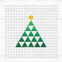 Piramide Squares Christmas Tree Vector Background