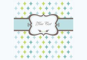 Retro-star-greeting-card-vector