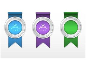 Silber Award Ribbon Vector Pack