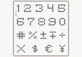 Cross-stitch-number-vector-pack