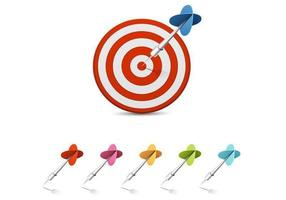 Darts-and-target-vector-pack