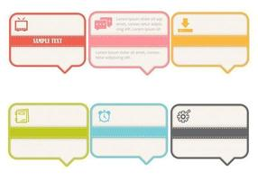 Ribbon Speech Bubble Vector Pack