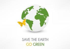 Save The Earth Background Vector