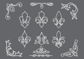 Fleur De Lis Vectors and Ornaments Pack