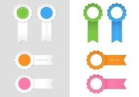 Moderno paquete de vectores de cinta de premio