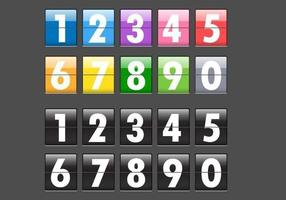 Number Flip Display Vector Pack