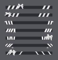 Weiß eingewickelter Band-Fahnen-Vektor-Satz