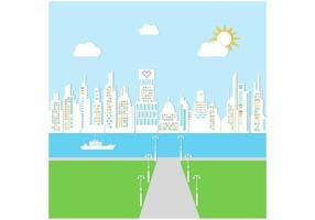 Sunny City Bakgrund Vector