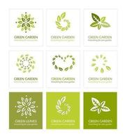 Green Leaf Logo Vector Pack